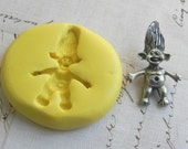 TROLL DOLL - Flexible Silicone Mold - Push Mold, Jewelry Mold, Polymer Clay Mold, Resin Mold, Craft Mold, Food Mold, PMC Mold