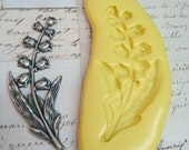 LILY of the VALLEY Flowers - Flexible Silicone Mold - Push Mold, Jewelry Mold, Polymer Clay Mold, Resin Mold, Craft Mold