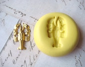 LOBSTER (design 1) - Flexible Silicone Mold - Push Mold, Polymer Clay Mold, Pmc Mold, Resin Mold, Crafting Mold