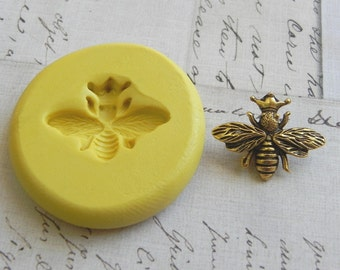 QUEEN BEE - Flexible Silicone Mold - Push Mold, Jewelry Mold, Polymer Clay Mold, Resin Mold, Craft Mold, Food Mold, PMC Mold