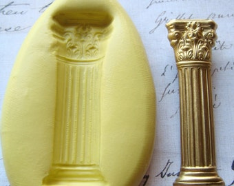 COLUMN / PILLAR - Flexible Mold/Mould - Push Mold, Polymer Clay Mold, Resin Mold, Pmc Mold, Clay Mold