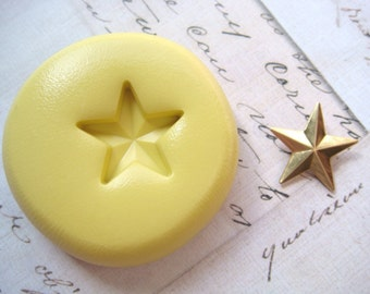 STAR (small) - Flexible Silicone Mold - Push Mold, Jewelry Mold, Polymer Clay Mold, Resin Mold, Craft Mold, Food Mold, PMC Mold