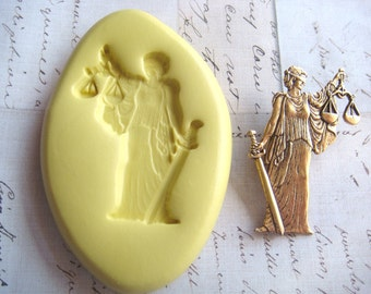 SCALES of JUSTICE -  Flexible Mold - Push Mold, Craft Mold, Resin Mold, Polymer Clay Mold, Pmc Mold