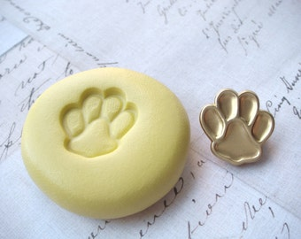 PAW PRINT - Flexible Silicone Mold - Push Mold, Jewelry Mold, Polymer Clay Mold, Resin Mold, Craft Mold, Food Mold, PMC Mold