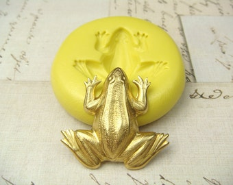 Frog - Flexible Silicone Mold - Push Mold, Jewelry Mold, Polymer Clay Mold, Resin Mold, Craft Mold, PMC Mold
