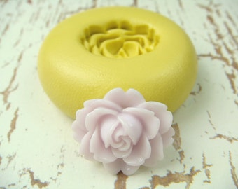 Lotus Flower - Flexible Silicone Mold - Push Mold, Jewelry Mold, Polymer Clay Mold, Resin Mold, Craft Mold, Food Mold, PMC Mold