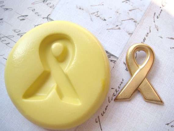 AWARENESS RIBBON - Flexible Silicone Mold - Push Mold, Jewelry Mold, Polymer Clay Mold, Resin Mold, Craft Mold, PMC Mold
