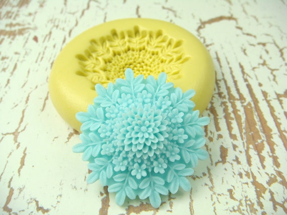 Cone Flower 3 tier - Flexible Silicone Mold - Push Mold, Jewelry Mold, Polymer Clay Mold, Resin Mold, Craft Mold, Food Mold, PMC Mold