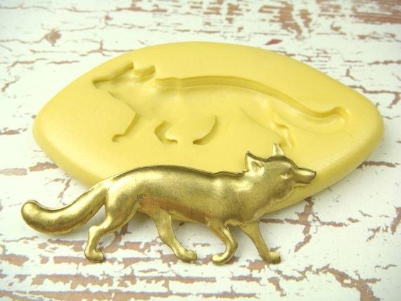 FOX - Flexible Silicone Mold - Push Mold, Polymer Clay Mold, Resin Mold, Pmc Mold