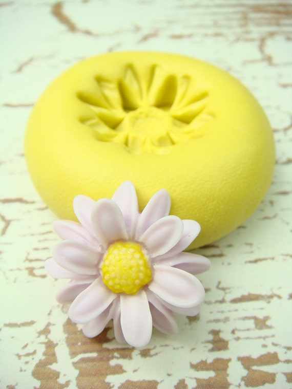 Raised Petals Daisy - Flexible Silicone Mold - Jewelry Mold, Polymer Clay Mold, Resin Mold, Craft Mold, PMC Mold