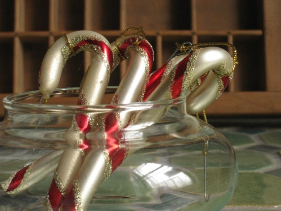candy cane glass mercury vintage