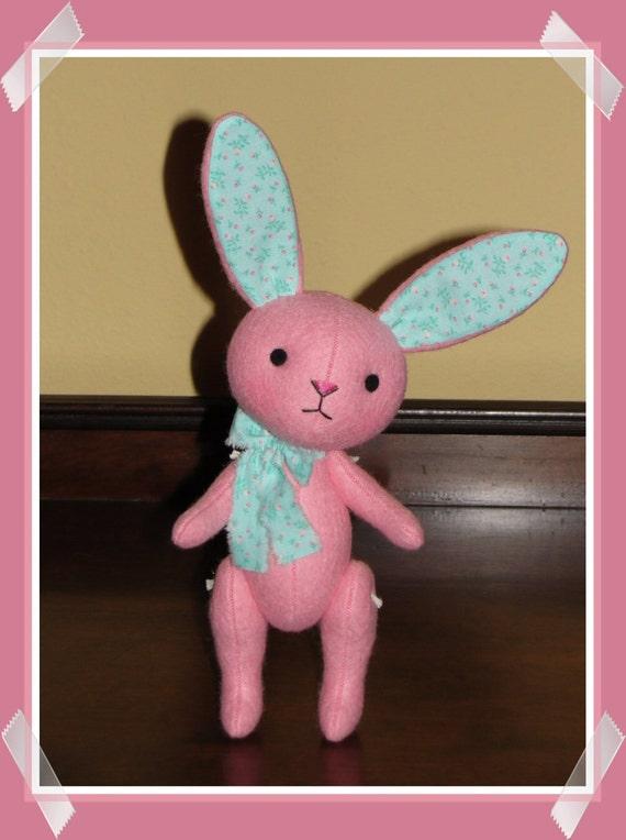 Wool Felt Plush Bunny Doll