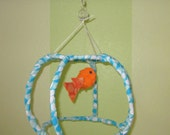 Fish Bowl Mobile -Variations in Size and Color Available -  Free Shipping