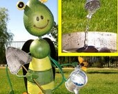 Grasshopper's Watering Can Water Fountain - Indoor or Outdoor Water Fountain- Free Shipping
