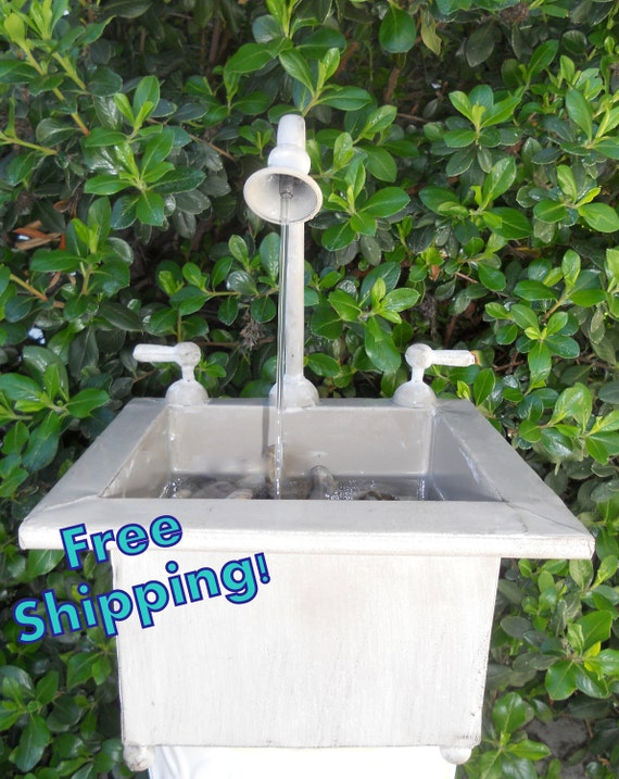 Square Faucet Water Fountain Indoor/Outdoor