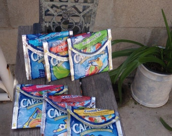 Recycled/ Upcycled Juice Pouch Wallet/Coin Purse