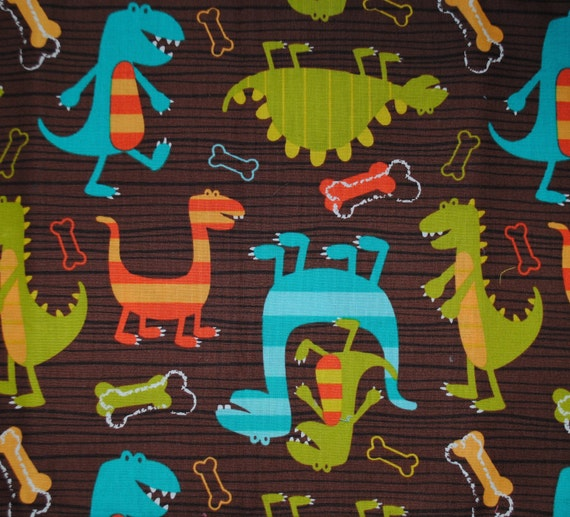 SALE 30% OFF Dino Dudes by Michael Miller 1 Yard 6 inches Last piece