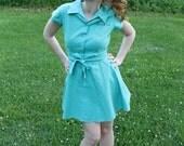Vintage Turquoise Dress - The Gloria