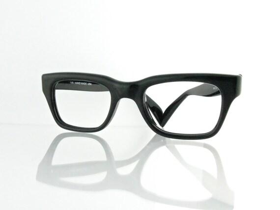 Eyeglass Frame Bags : Vintage 1960s Black Nalco 44 eyeglasses frames Colin by ...