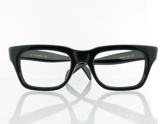 Eyeglasses Frames Usa : VTG 60s Black NALCO 44 eyeglasses frames USA A Single Man