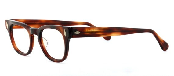 "Vintage deadstock 60's ""Bro"" Lane Pryce Tortoise Shell Eyeglasses with Diamond Rivets - FREE DOMESTIC SHIPPING"
