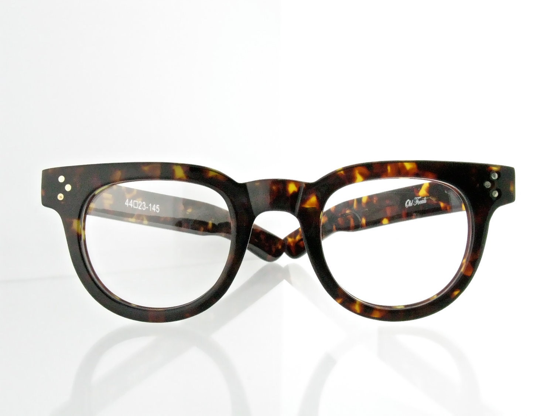 Tortoise Frame Fashion Glasses : Old Focals brand FDRs tortoise shell eyeglasses 50s style