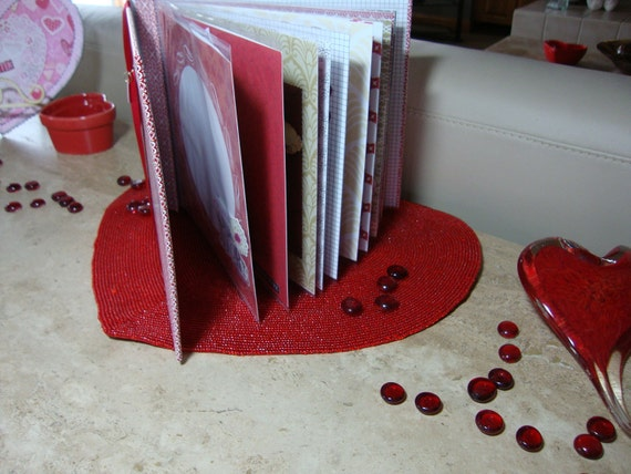 Love Scrapbook Album 10 x 9 with 20 Completed 8 x 8 pages