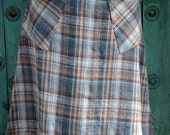 Woolbridge Cozy Flannel Plaid Skirt with Pockets Size Extra Large XL