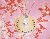 Big Love... Handstamped 1 inch personalized necklace.