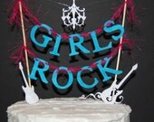 Girl's Rock cake banner For Crime