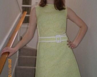 1960s light green a line scooter dress
