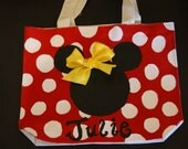 CUTE Minnie or Mickey Mouse bag disney polka dots bow