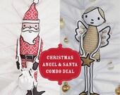 Combo Deal: Santa & Sweet Angel FABRIC panels