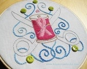 Breast Cancer Fundraiser embroidery pattern