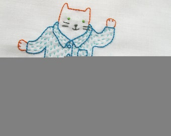 Cat's Pajamas - pdf embroidery pattern