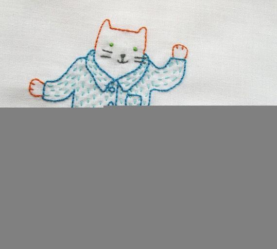 Cat's Pajamas - pdf embroidery pattern