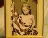 Charming Our Flag Original Americana Collage Artwork Vintage Altered