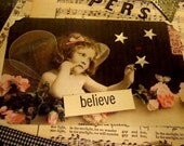 Charming 9 x 12 Original Collage Fairy Whispers