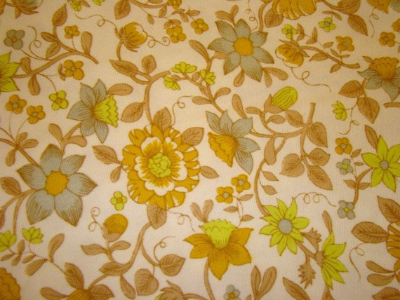 Over Three Yards Vintage Floral Cotton Fabric