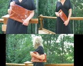 Large Pouch or Clutch - Cognac Leather