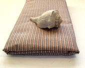 3 yds Tan Stripe Cotton Pillowcase Yardage Fabric Pinstripes Ticking Textiles
