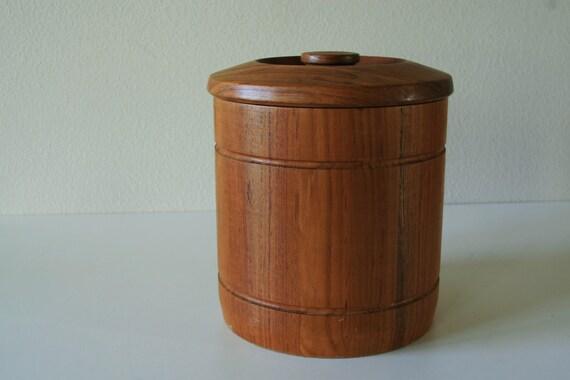 vintage Teak wood Ice bucket