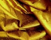 Silk Dupioni in Dark Gold , Fat quarter - D 63