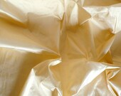 Silk Taffeta in Cream color- Fat quarter -TF 57
