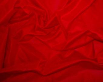 Silk Taffeta in Red- Half yard Yard -TF 4