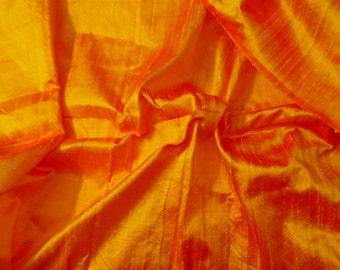 Silk Dupioni in Sunset Orange-Fat quarter, D 51