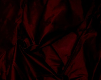 Silk Taffeta in WineRed/Burgundy, Fat Quarter-TF 18