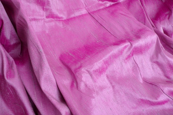 Silk Dupioni in Violet with pink and grey, fat quarter - D 85