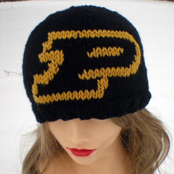 Purdue Knit Beanie Hat Purdue University Boilermakers Black and Gold