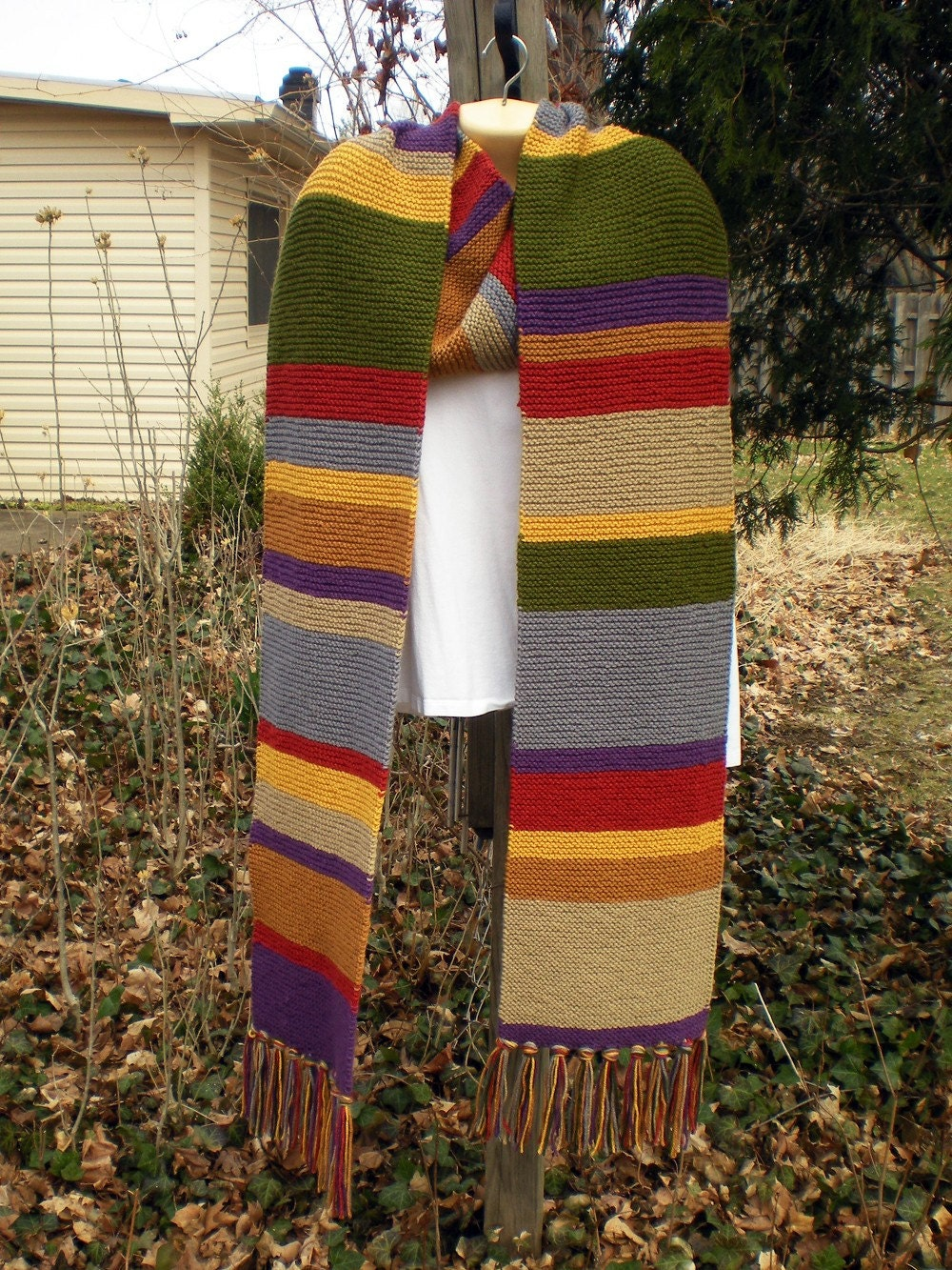 Tom Baker Scarf Knitting Pattern : Doctor Who Scarf Tom Baker Fourth Doctor Season 12